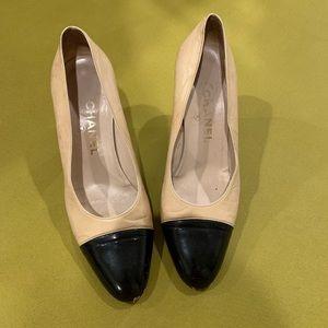 fe0ed9d6e51 Women Black Chanel Cap Toe Heels on Poshmark